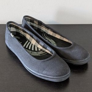 Keds Black Slip On Shoes Fabric Uppers Size 7.5